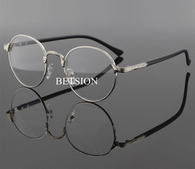 Retro Fashion Myopia NEARSIGHTED Distance Silver Eyeglass Frame ...