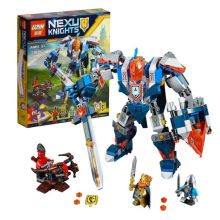 LEPIN Nexus Knights Building Blocks The King Mech Assemblage Minifigures Buildable Figures like legoed castle ninja