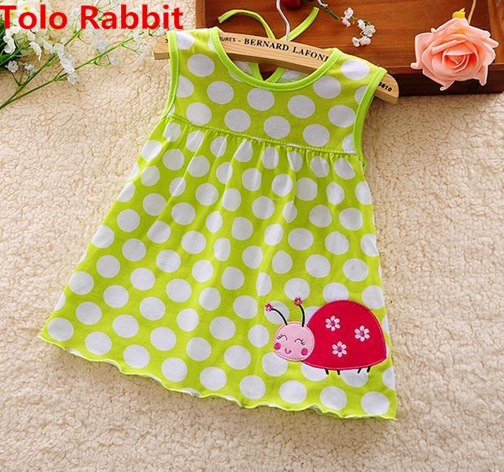 Baby Girl Dress 2017 infantile girls summer dress style Princess 0-2years Cotton Clothing Dress Baby Girls Clothes Low Price