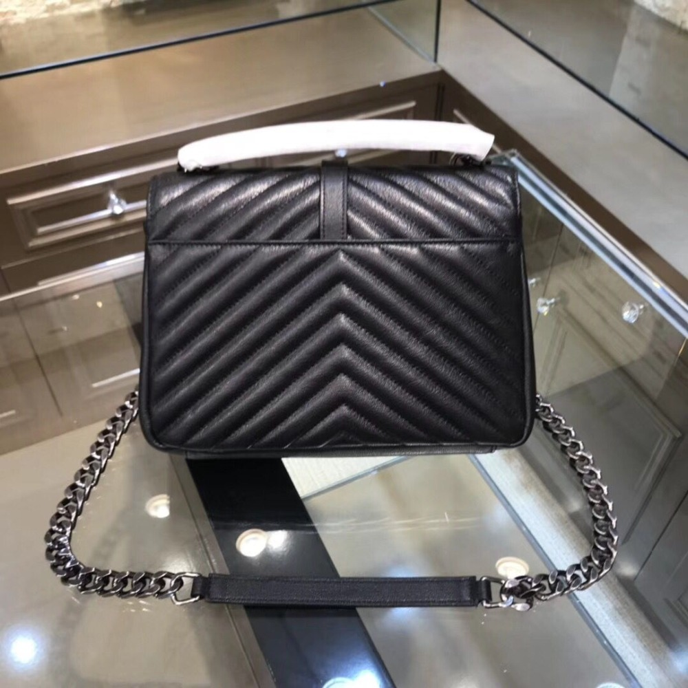 high quilted leather bag messenger bag lady famous luxury brand Genuine leather shoulder bags lock chain