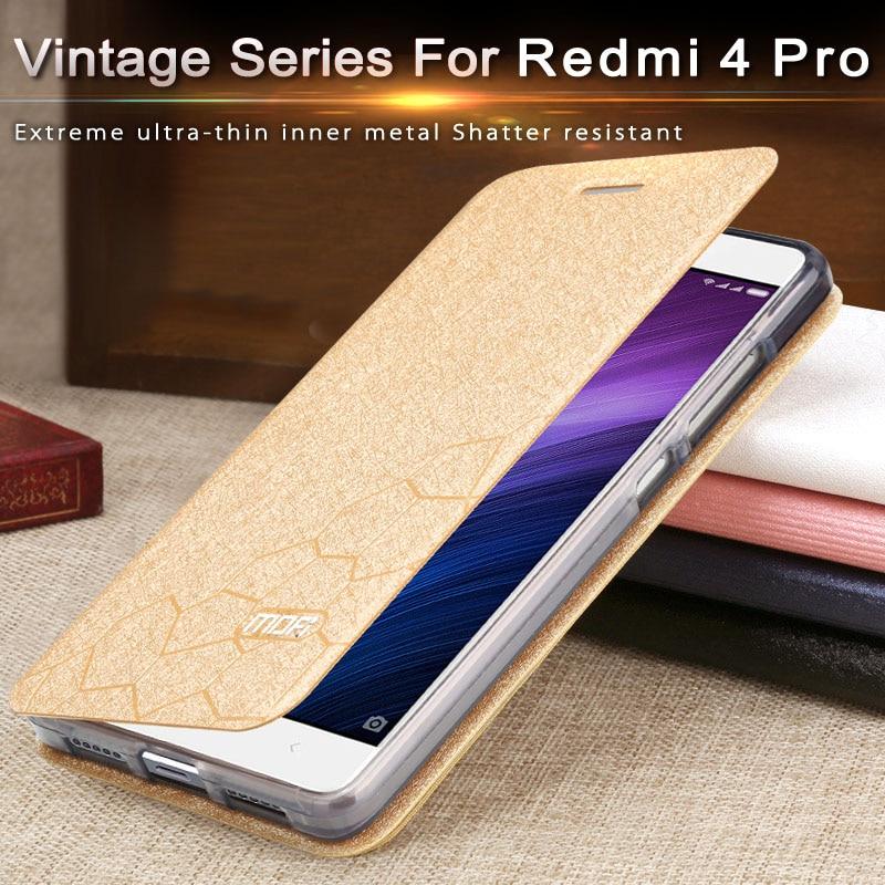 Flip Case Voor Xiaomi Redmi 4 Pro Case Redmi 4pro Cover Silicone Luxe Lederen Redmi 4 Prime Case Pu Mofi redmi 4pro Case 2Gb