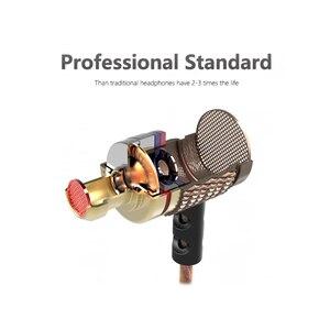 Image 3 - QKZ ED2 אוזניות ואוזניות לטלפון DJ MP3 אוזניות חוט auriculares אוזניות מוסיקה אוזניות מתכת אוזניות fone דה ouvido