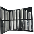 Hairstylist Favorite White Hair Antistatic Carbon Comb Set With Comb Bag Pro 9 Pcs Hairdresser Cut Comb TG-092 With Pocket Bag