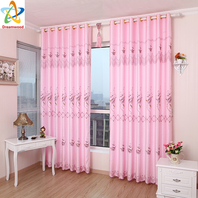 Dreamwood European Luxury curtains Semi shading embroidered living ...