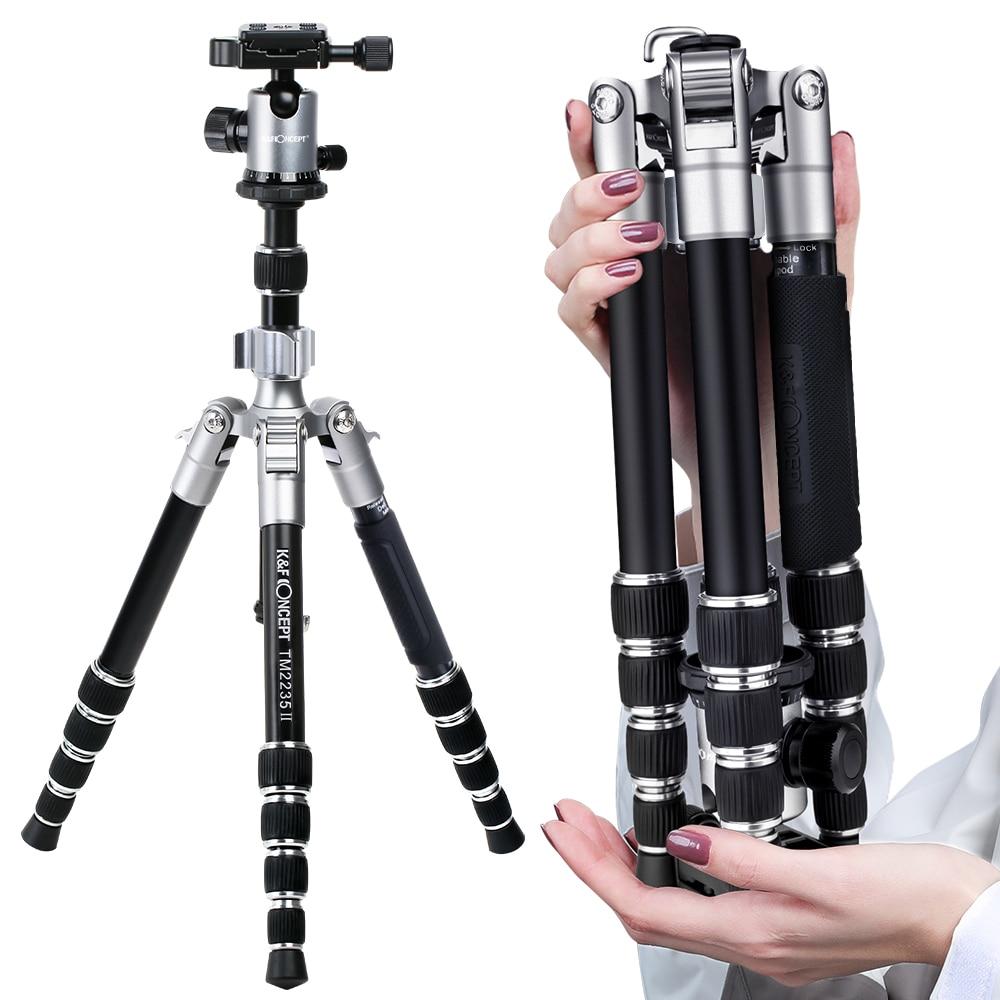 K & F CONCEPT TM2235II 5 Secties Draagbare Lichtgewicht Camera Statieven Professionele Compact Legering DSLR SLR Statief