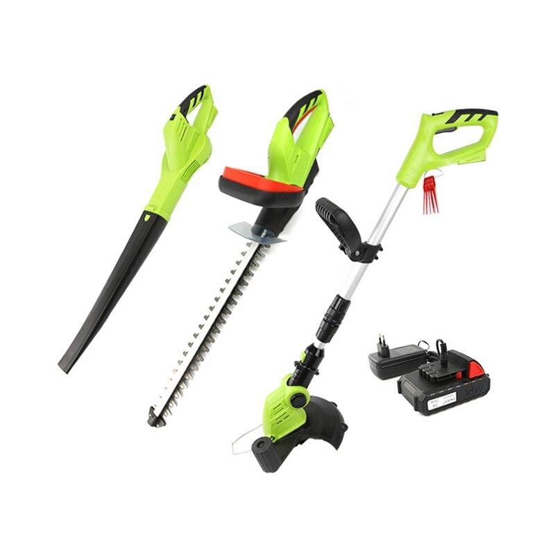 DEKO 3 в 1 20 В 2000 мАч литиевая батарея аккумуляторная триммер садовые ножницы и листьев воздуходувки садовый инструмент комплект газонокосилк