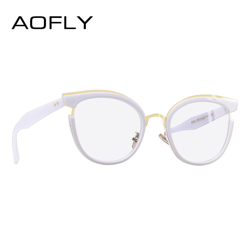 e249768ca0 Aliexpress.com   Buy AOFLY BRAND DESIGN Elegant Style Cat Eye Eyeglasses  Frame Reading Spectacles Women Plain Glasses Frame Optical Clear Lens  AF9203 from ...