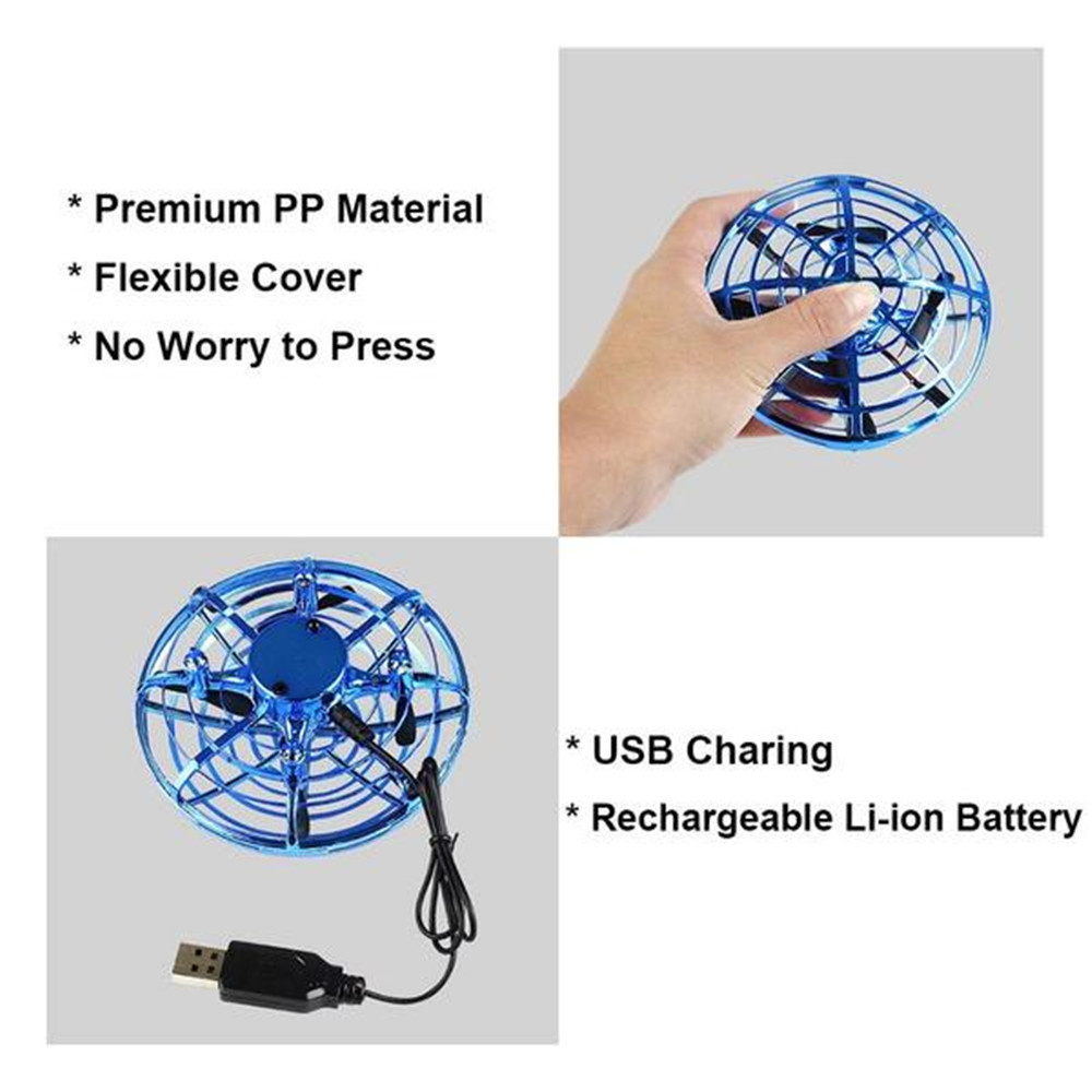 Anti-collision Flying Helicopter Magic Hand UFO Ball Aircraft Sensing Mini Induction Drone Kids Electric Electronic Toy 4