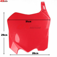 Plastic Front Number Plates Name Plate Red For CRF CRF250R 10-13 CRF450R 09-12 Off Road Racing Motocross