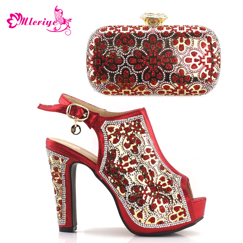 red Italian Ladies Shoes and Bags To Match Set Italian Matching Shoe and Bag Set for Wedding Nigerian Party Shoes and Bag italian gold color italian ladies shoes and bags to match set nigerian shoes and matching bag african wedding shoes and bag set