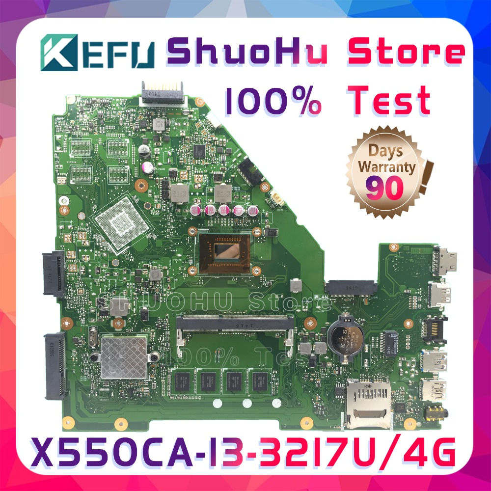 SHELI X550CC For ASUS X550CA R510C Y581C X550C X550CL CPU I3 4GMemory laptop motherboard tested 100% work original mainboard