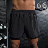 LYNSKEY 2 In 1 Men Shorts Running Shorts With Pocket Athletic Shorts For Men Workout Fitness