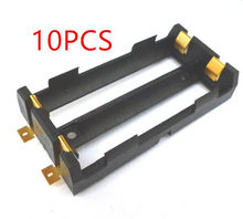 10 Pcs / Lot 2X18650 Battery Box High Quality SMD Battery Holder With Bronze Pins TBH-18650-2C-SMT(China)