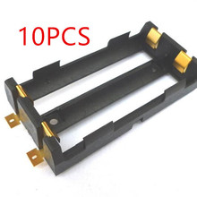 10 Pcs / Lot 2X18650 Battery Box High Quality SMD Battery Holder With Bronze Pins TBH-18650-2C-SMT