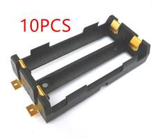 10 sztuk partia 2X18650 opakowanie na baterie wysokiej jakości urządzenia do montażu powierzchniowego uchwyt baterii z brązu szpilki TBH-18650-2C-SMT tanie tanio HJXY CN (pochodzenie) Przechowywanie akumulatora box 18650Battery Storage Box
