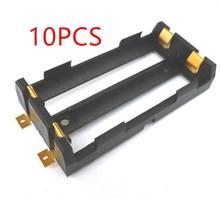 10 teile/los 2X18650 Batterie Box Hohe Qualität SMD Batterie Halter Mit Bronze Pins TBH 18650 2C SMT