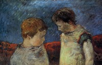 High quality Oil painting Canvas Reproductions Aline Gauguin and one of her brothers (1883) by Paul Gauguin hand painted