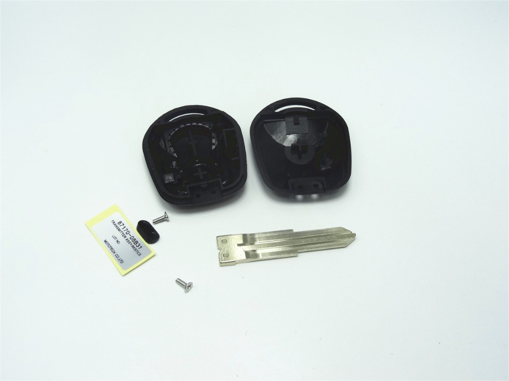 1 unid Nuevo Reemplazo caso dominante para Ssangyong Kyron Actyon Rexton 3 botón de La Cubierta En Blanco Fob piezas de automóviles con la etiqueta engomada