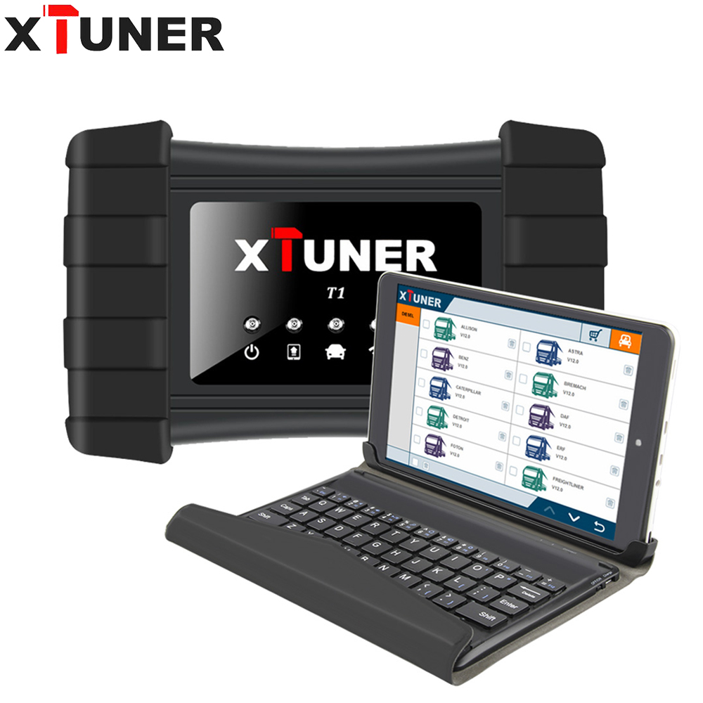XTUNER T1 V9.3 HD Heavy Duty Camions Auto Outil De Diagnostic Avec Airbag ABS DPF EGR Reset + 8' WIN10 Tablet OBD 2 autoscaner outil