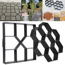 1Pc 40*40*4cm Black Plastic Paving Pavement Stone Mold Garden Tools For Concrete DIY Shovel Brick Tool
