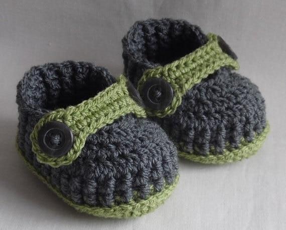 Häkeln babyschuhe für Neugeborene, 0 3 Mt oder 3 6 Mt, wählen sie ...