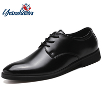 YEINSHAARS Men Shoes Spring Summer Autumn Formal Genuine Leather Business Casual Shoes Men Dress Office Male Breathable Oxfords