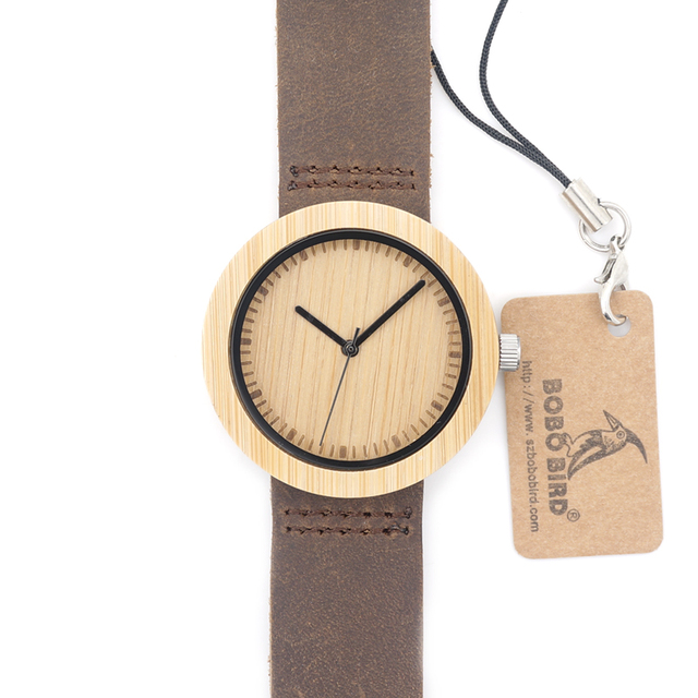 New 2016 Women's Watch Wood Bamboo Wristwatch Female Clock Ladies Quartz-watch for Women as Gifts Items