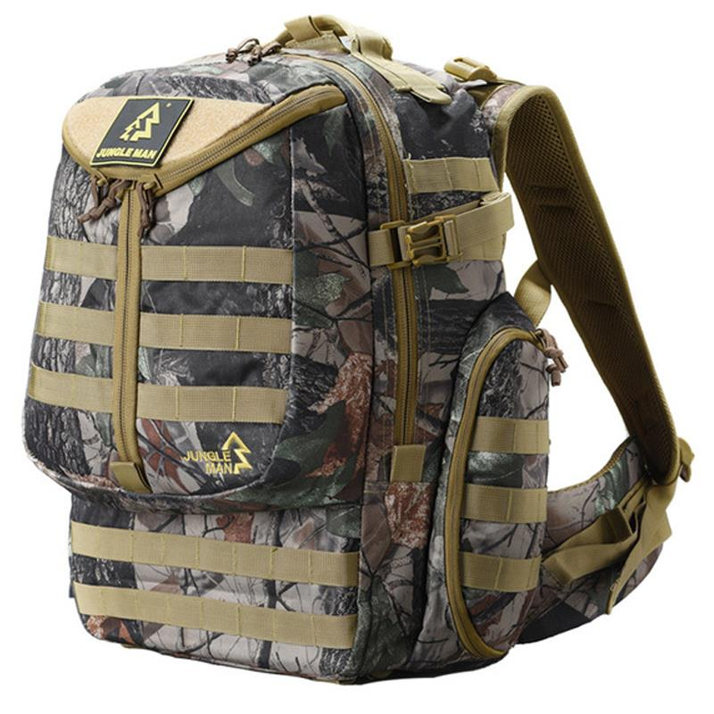 Sports Backpack Hunting Patrol Leaf Camouflage Tactical Amy Bionic Backpack Travel Hiking Camping Hunting Wargame Outdoor