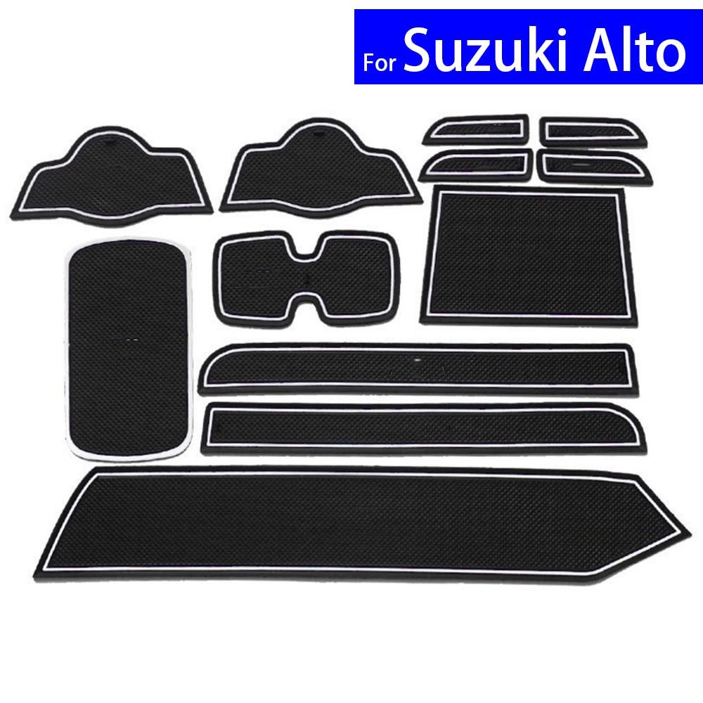 Car door gate slot mats carpets position cup holder pads for suzuki alto 2009 2010 2011