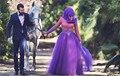 Musulmanes coloridos vestidos novia 2015 arabia saudita A-Line cuello alto Vintage largo tul de novia vestidos Vestido de Noiva a24
