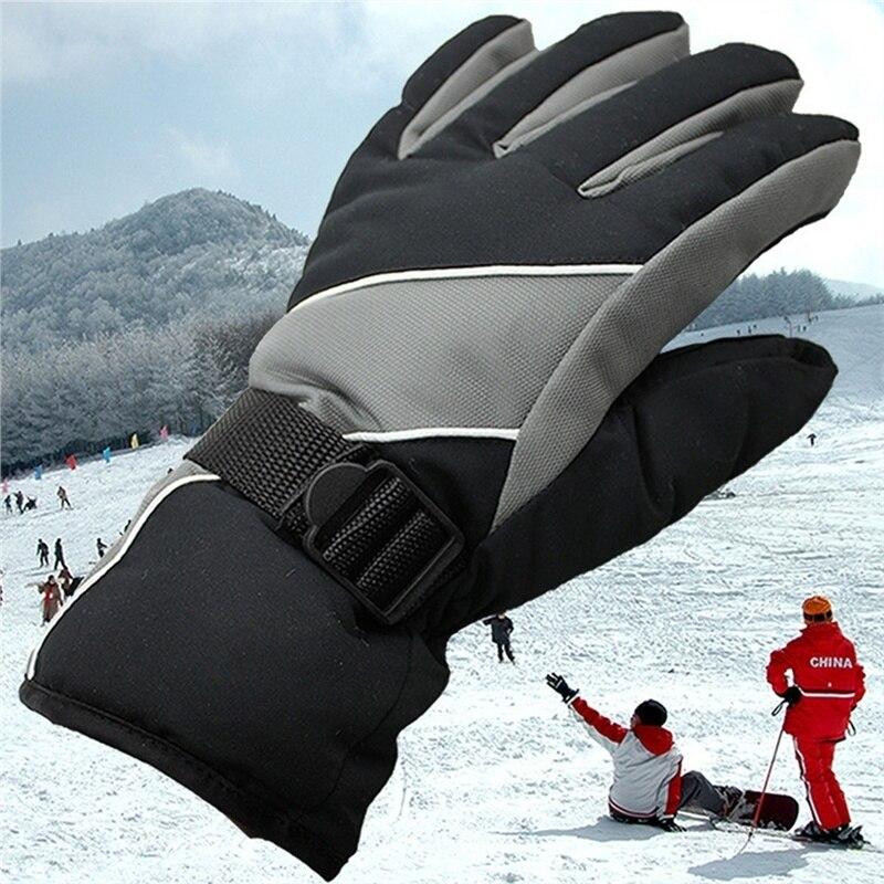 Winter Waterproof Windproof Snow Protection Gloves Men Ski Gloves Snowboard Gloves Motorcycle Riding Snow Windstopper Sportswear