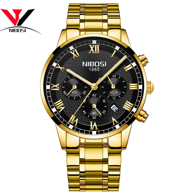 Image 3 - Relogio Masculino NIBOSI Mens Watches Top Brand Luxury Waterproof Stainless Steel Male Clock Dress Famous Business Watch Men2018-in Quartz Watches from Watches