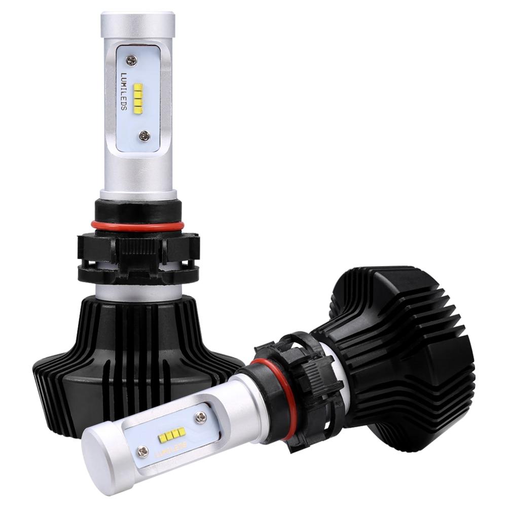 iSincer Car LED Headlight Car Headlamp with Philips Chips 80W 8000LM H4 9003 HB2 Headlight Kit H/L Beam Bulbs 6000K Foglight