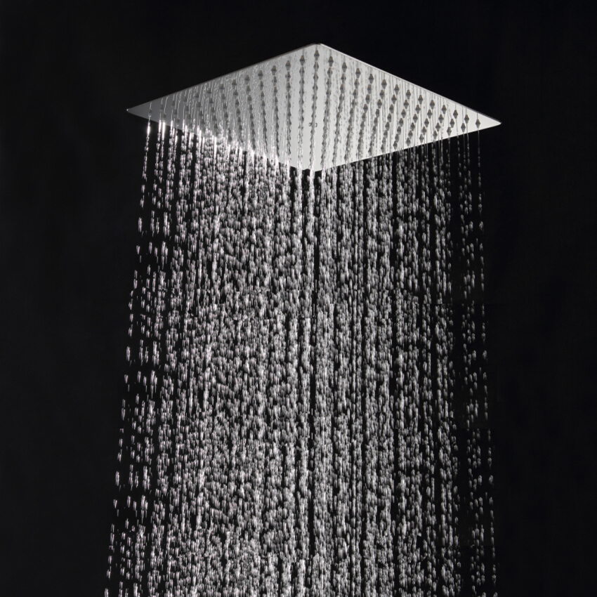 30cm*30cm Square stainless steel ultra thin Rainfall shower head ...