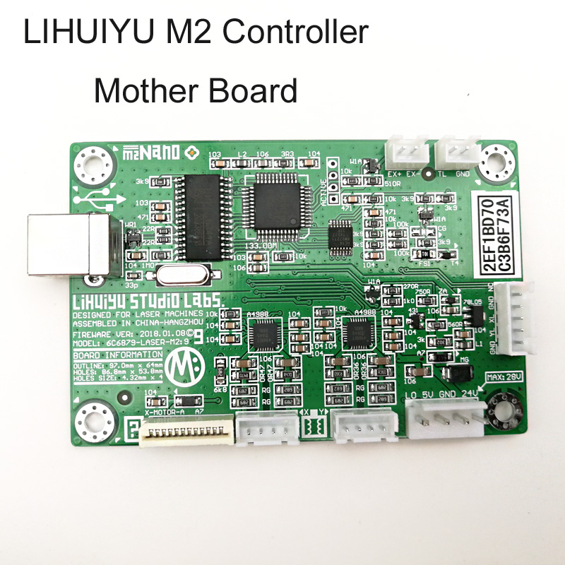 CO2 Laser Rubber Stamp Engraving Machine K40 LIHUIYU M Mother Main Board Co2 Laser Control System