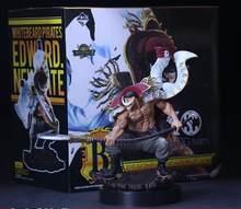 Uma peça anime figura de ação barba branca piratas edward newgate pvc esculpir a tag equipe collectible modelo brinquedos figuras