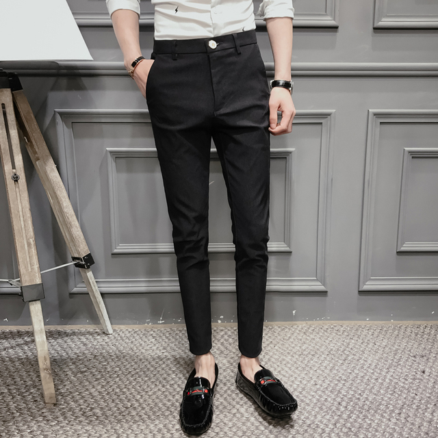 2018 Black Pants Mens Dress Pants Formal Pants For Mens Trousers