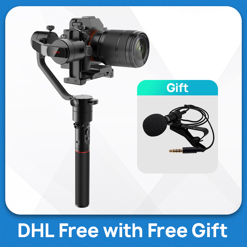 Moza Aircross Handheld Brushless Gimbal Stabilizer Steadycam for Mirrorless Cameras Sony a6300 Pana GH5 Canon EOS Pk ZhiyunCrane-in Handheld Gimbal from Consumer Electronics    1