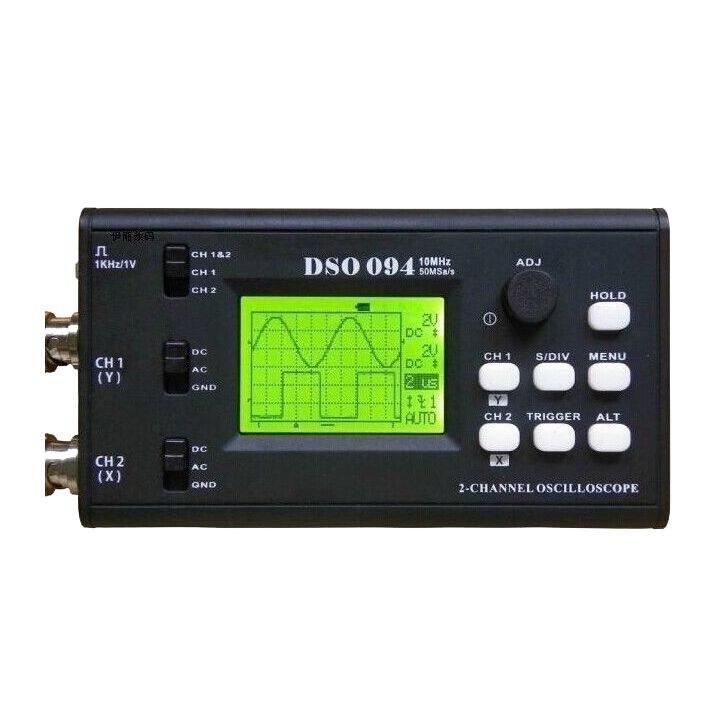 DSO 094 Dual Channel 10 MHz 50 MSa/s USB Virtual Digital Storage Oscilloscope dso 150 2 0 lcd usb dual channel oscilloscope