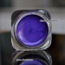 Bling из чистого серебра тени для век Блеск влажные Пресс Косметика с блестками порошок мелкие блестки фиолетового цвета, 3g, с функцией N19