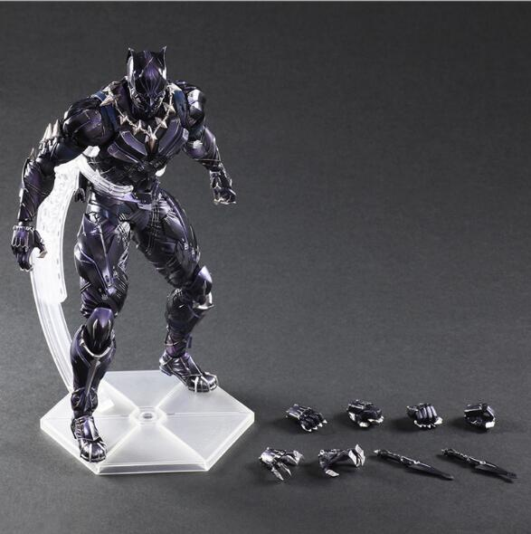 PLAY ARTS 27cm Marvel Avengers Black Panther Super Hero PVC Action Figure Model Toy fire toy marvel deadpool pvc action figure collectible model toy 10 27cm mvfg363