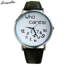 Ladies Males Watches Who Cares Leather-based Informal Clock Analog Quartz Wrist Watch wholesale v