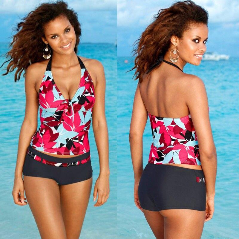 Sexy Women Tankini beach cover up Swimsuit Bikini Print Floral Swiming Suit Ladies Swimw ...