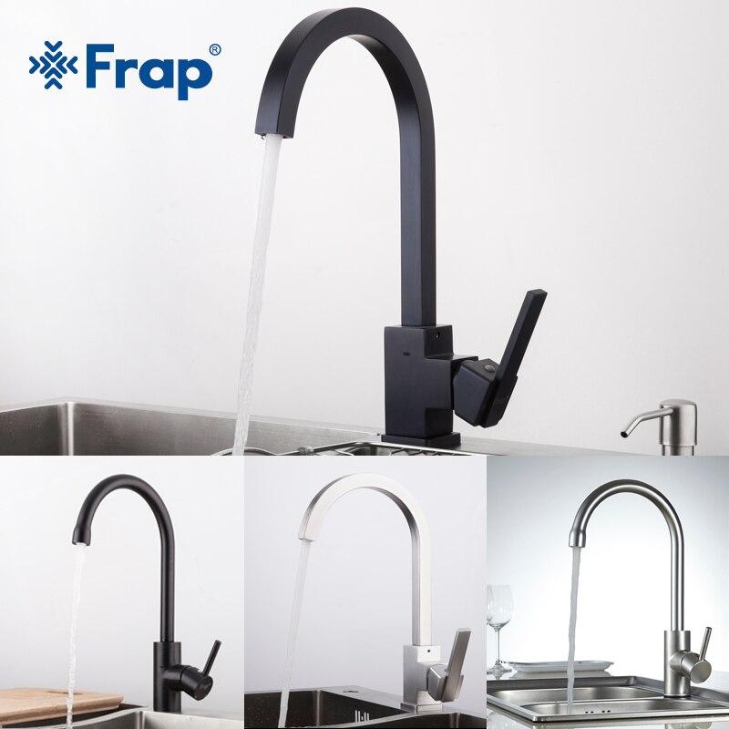 FRAP Neue Ankunft Heißer und Kalten Wasser küche waschbecken wasserhahn Raum Aluminium Wasser mischbatterie 360 Grad Rotation YF40010