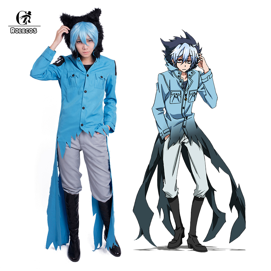 "ROLECOS New Arrival Anime Servamp Men Cosplay Costumes Kuro ""Sleepy Ash or Sloth"" Cosplay Clothing Set Jacket Pants Full Set"