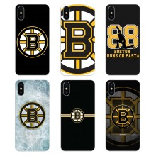 Bolsa de silicona caso Bruins de Boston de Hockey sobre hielo para iPhone XS Max XR X 4 4S 5 5S 5C iPhone 6 6 6 S 7 8 Plus, Samsung Galaxy J1 J3 J5 J7 A3 A5(China)
