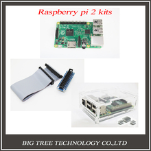 5 IN 1 Raspberry Pi Model B plus Board + 2 heat sinks + Pi Cobbler GPIO + 1 board case l+1pcs cable 5pcs/lot Free Shipping