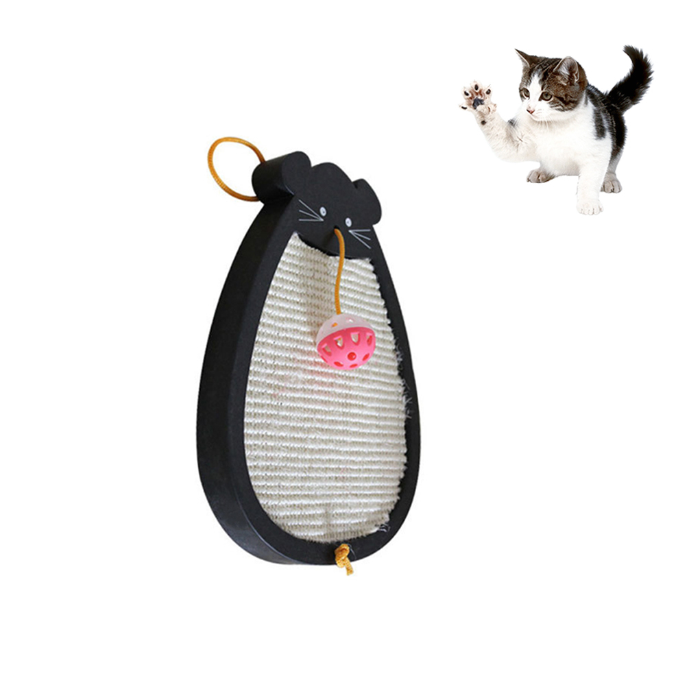Petacc Cat Scratcher Sisal Hemp High quality Pet Scratching Pad Anti-Abrasion Cat Toy With Cartoon Pattern And Bell Attachment