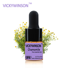 лучшая цена VICKYWINSON Chamomile essential oil 5ml 100% Chamomile Pure Essential Oils Ageless Moisturizing Skin Care Anti WD51