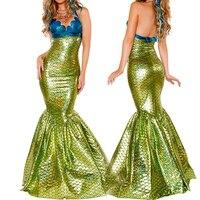 VASHEJIANG Sexy Amazing Mermaid Tail Costume Adult Fantasia Mermaid Princess Cosplay Deguisement Halloween Costumes For Women
